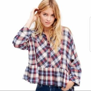 Free People Promise Everything Plaid small